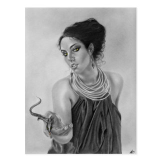 Greek goddess snake Postcard