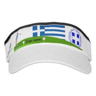 Greek golfer visor