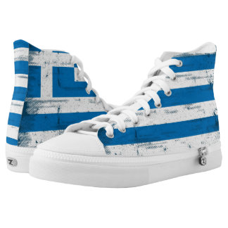 Greek grunge Flag Printed Shoes