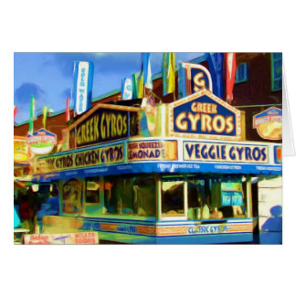 Greek Gyros,State Fair food, Indianapolis, Indiana Card