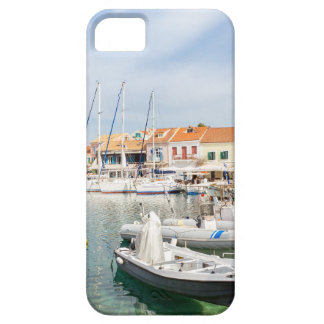 Greek harbor with sailing boats in Fiskardo Barely There iPhone 5 Case