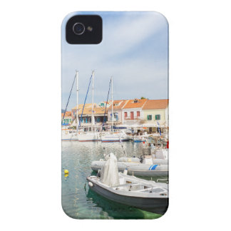 Greek harbor with sailing boats in Fiskardo iPhone 4 Cases
