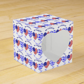 Greek Heart Flag Country Ancestry Favour Box