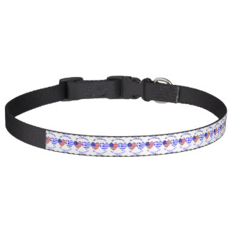 Greek Heart Flag Country Ancestry Pet Collar