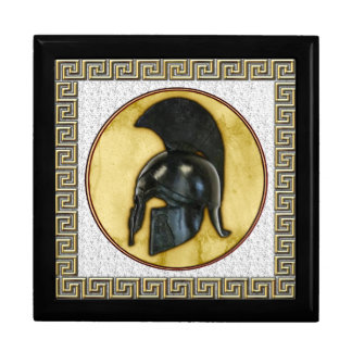 Greek Helmet Large Square Gift Box