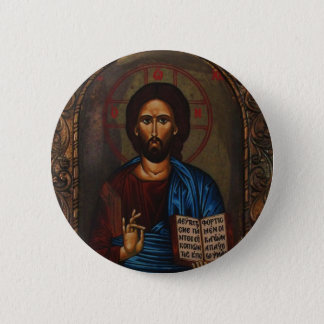 Greek ICON CHRIST 6 Cm Round Badge