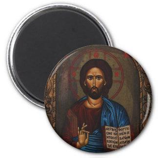 Greek ICON CHRIST 6 Cm Round Magnet