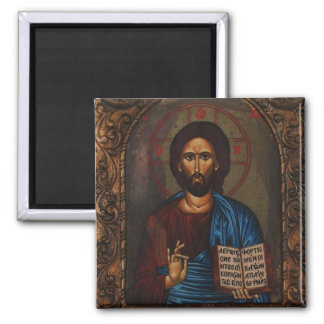 Greek ICON CHRIST Square Magnet