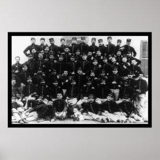 Greek Infantry Officers 1912 Poster
