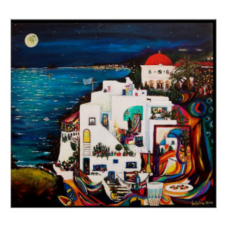 Greek Island Dream Poster