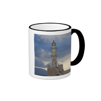 Greek Island of Crete and old town of Chania 2 Ringer Mug