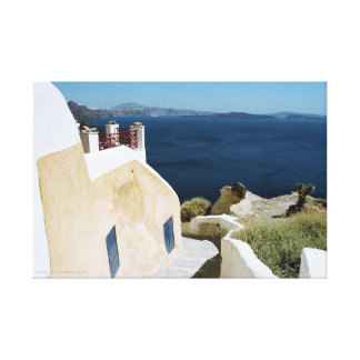 Greek island Santorini canvas Canvas Print