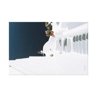 Greek island santorini canvas print