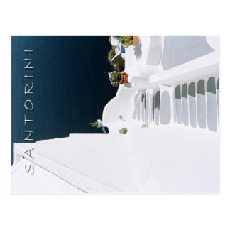 Greek island santorini postcard