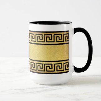 Greek Key and Gold Mug