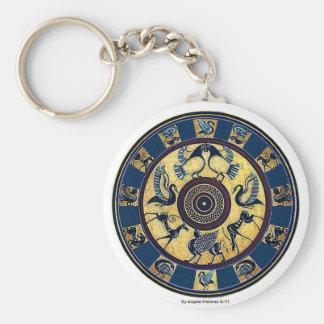 Greek Key Chain