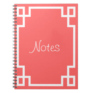 Greek Key (Change to any color!) Spiral Notebook