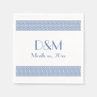 Greek Key Design Paper Napkin