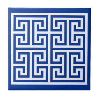 Greek Key Design Tile