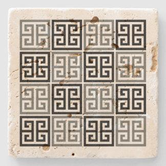 Greek Key Motif Stone Coaster