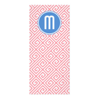 Greek Key Pattern Custom Monogram Rack Card