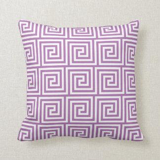 Greek Key Pillow in Radiant Orchid Purple