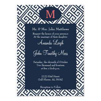 Greek Key Wedding Invitation