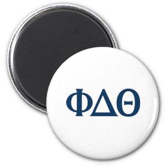 Greek Letters - Blue 6 Cm Round Magnet