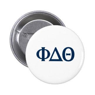 Greek Letters - Blue 6 Cm Round Badge