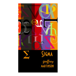 Greek life calling cards Double-Sided standard business cards (Pack of 100)