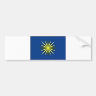 greek macedonia region flag greece country bumper stickers