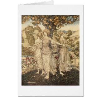 Greek Maidens (Blank Inside) Card