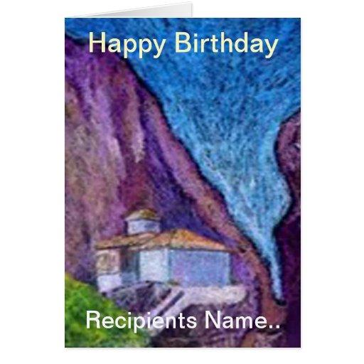 how to write happy birthday in greek