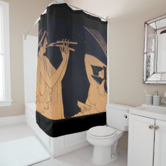 greek muse corrected shower curtain
