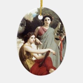 Greek Music Art Two Women painting Ornament