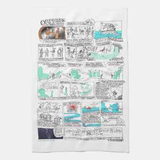 Greek Myth Comix Orpheus Tea Towel