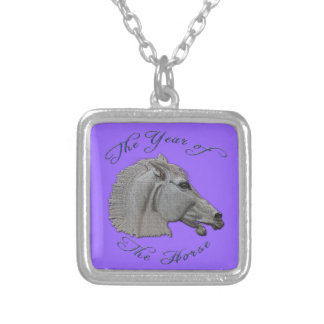 Greek Mythology Year of the Horse Silver Plated Necklace