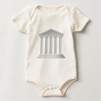 Greek or Roman Temple Columns Baby Bodysuit