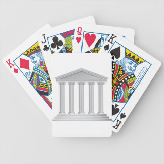 Greek or Roman Temple Columns Bicycle Playing Cards