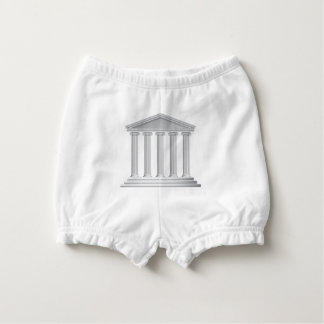 Greek or Roman Temple Columns Nappy Cover