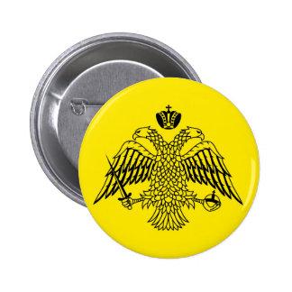Greek Orthodox Church flag Mount Athos religious 6 Cm Round Badge