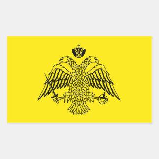 Greek Orthodox Church flag Mount Athos religious Rectangular Sticker