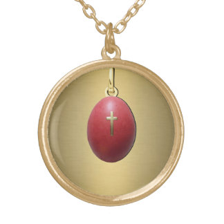 Greek Orthodox Easter Egg Gold Plated Necklace