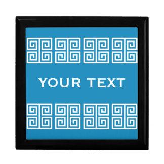 Greek Pattern custom gift / jewelry / trinket box