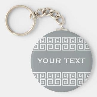 Greek Pattern custom key chain