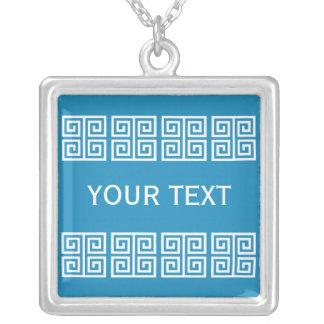 Greek Pattern custom necklace