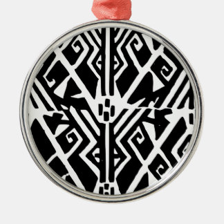 Greek Pattern Silver-Colored Round Decoration