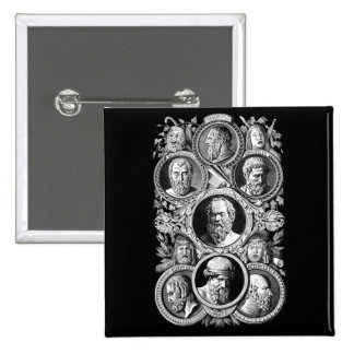 Greek Philosophers 15 Cm Square Badge