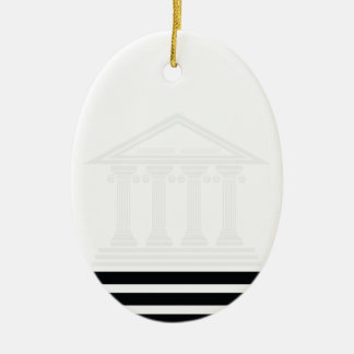 greek pillars ceramic ornament