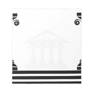 greek pillars notepad